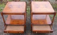 Pair Yew Lamp Tables